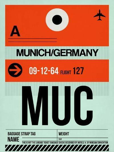 MUC Munich Luggage Tag 2-NaxArt-Art Print