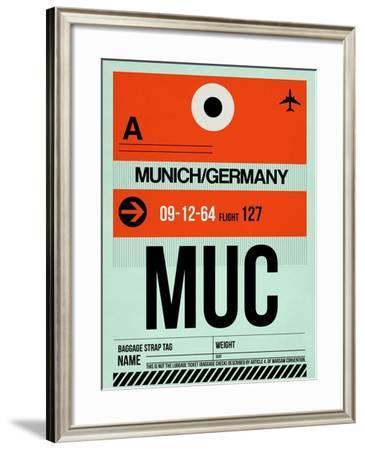 MUC Munich Luggage Tag 2-NaxArt-Framed Art Print