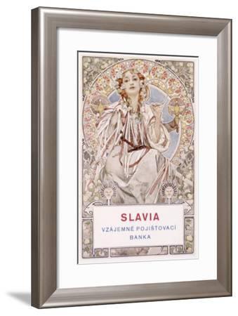 Mucha Nouveau Czech Bank Poster-Alphonse Mucha-Framed Giclee Print