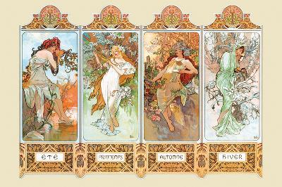 Mucha The Four Season-Alphonse Mucha-Poster