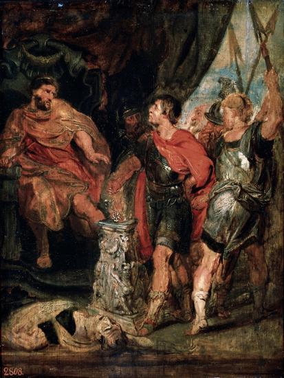 Mucius Scaevola before Porsenna, 1630S-Peter Paul Rubens-Giclee Print