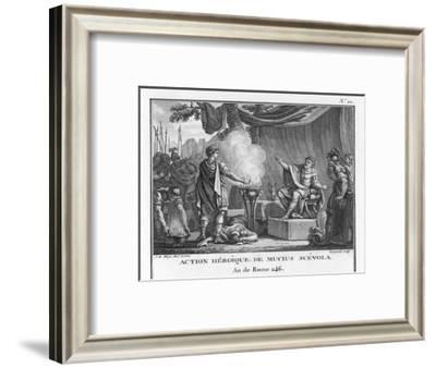 Mucius Scaevola, Would-Be Assassin of Lars Porsena-Augustyn Mirys-Framed Giclee Print