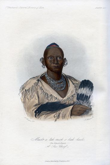 Muck-A-Tah-Mish-O-Kah-Kaik, the Black Hawk, a Sac Chief, 1848-Harris-Giclee Print