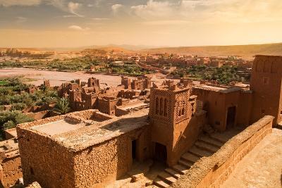 Mud Constructions in Ait Benhaddou.-Artur Debat-Photographic Print