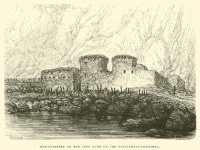 Mud-Fortress on the Left Bank of the Huilcamayo-Urubamba-?douard Riou-Giclee Print