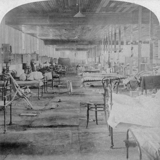 Mud Hall, the Last Prison Occupied by the British Officers at Pretoria, South Africa, 1901-Underwood & Underwood-Giclee Print