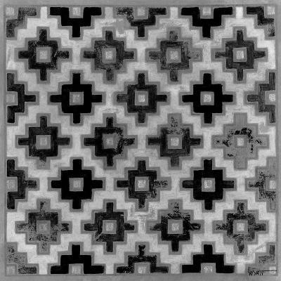 Mudcloth Black and White II-Norman Wyatt Jr^-Art Print