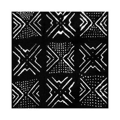Mudcloth Black V-Ellie Roberts-Giclee Print
