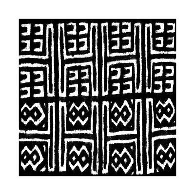 Mudcloth Black VII-Ellie Roberts-Giclee Print