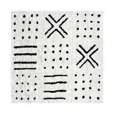 Mudcloth White II-Ellie Roberts-Giclee Print