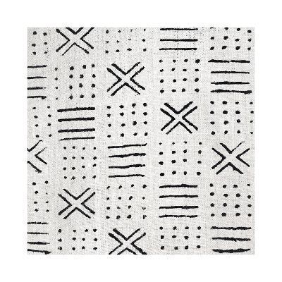 Mudcloth White III-Ellie Roberts-Giclee Print