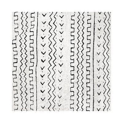 Mudcloth White VI-Ellie Roberts-Giclee Print