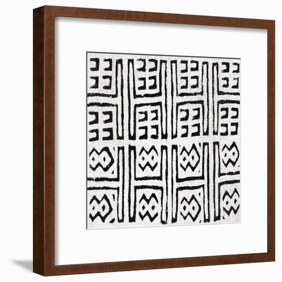 Mudcloth White VII-Ellie Roberts-Framed Giclee Print