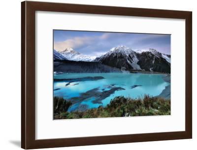 Mueller Glacier Lake and Mount Cook at Dusk-Nora Carol Photography-Framed Photographic Print