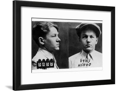 Mug Shots of Baby Face Nelson in the 1930s--Framed Photo