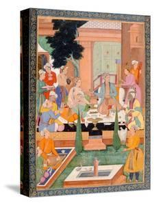 A Prince and Companions Take Refreshments and Listen to Music, from the Small Clive Album by Mughal