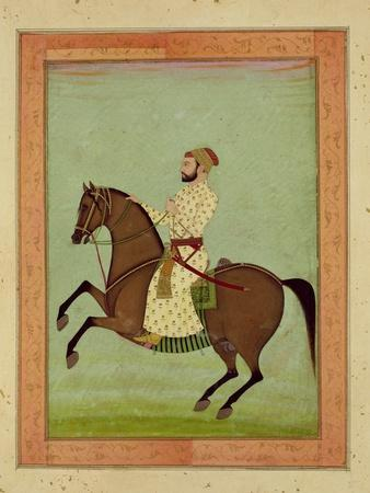 A Mughal Noble on Horseback, C.1790, from the Large Clive Album