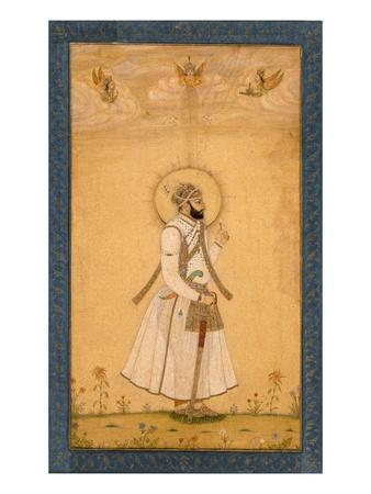 The Emperor Farrukhsiyar (1683-1719) from the Large Clive Album