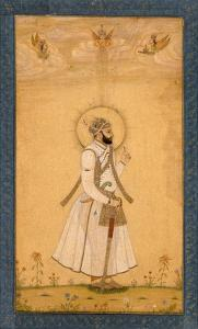 The Emperor Farrukhsiyar (1683-1719) from the Large Clive Album by Mughal