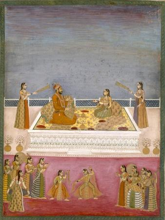 The Young Mughal Emperor Muhammad Shah at a Nautch Performance (1719-48), C.1725