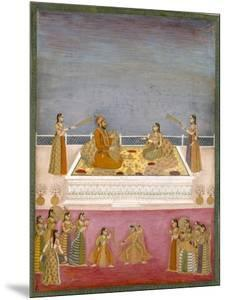 The Young Mughal Emperor Muhammad Shah at a Nautch Performance (1719-48), C.1725 by Mughal