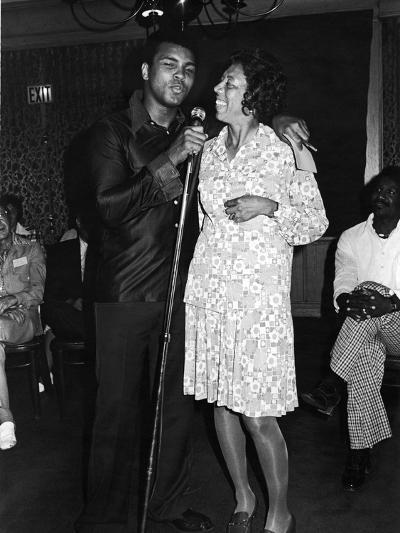 Muhammad Ali,  Althea Gibson, July, 1975-Lucus Robert-Photographic Print