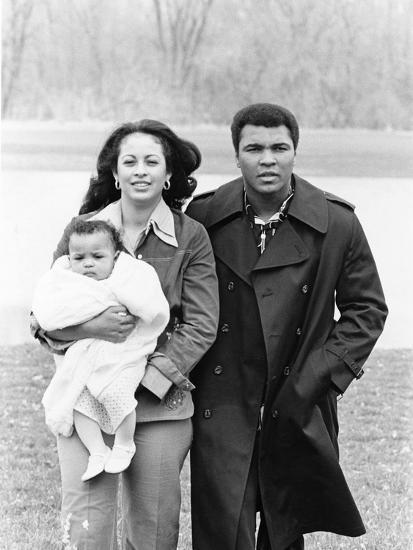 Muhammad Ali and Family - 1977-Ozier Muhammad-Photographic Print