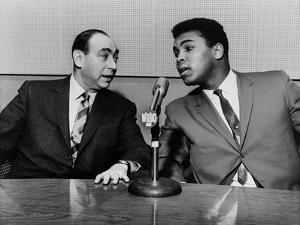 Muhammad Ali and Howard Cosell on WaBC Radio in 1965