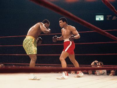 "Muhammad Ali and Joe Frazier, ""Fight of the Year"", March 8, 1971-Moneta Sleet Jr.-Photographic Print"