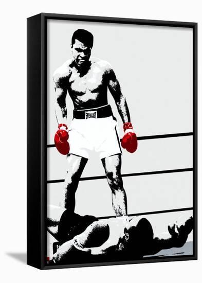 Muhammad Ali: Gloves Framed Canvas Print by | Art.com