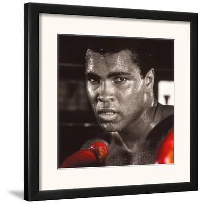 Muhammad Ali: Gloves--Framed Art Print