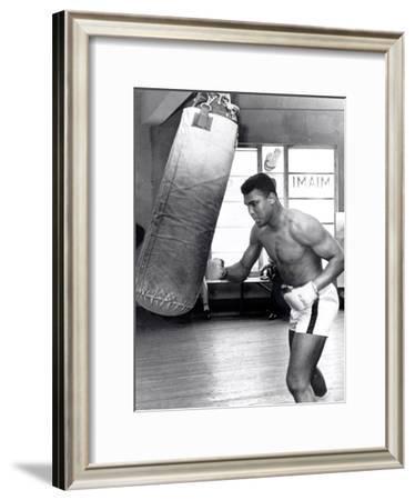 Muhammad Ali Training at the 5th Street Gym, Miami Beach, 27 September 1965--Framed Photographic Print