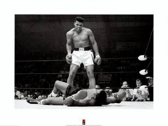 Muhammad Ali vs. Sonny Liston--Art Print