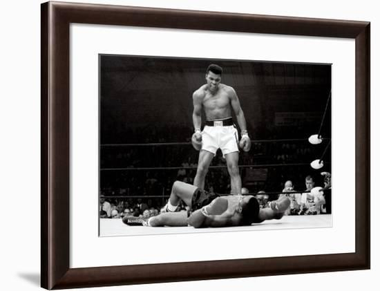 Muhammad Ali vs. Sonny Liston--Framed Art Print