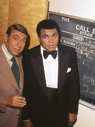 Muhammad Ali with Howard Cosell Backstage, July of 1975-Isaac Sutton-Photographic Print