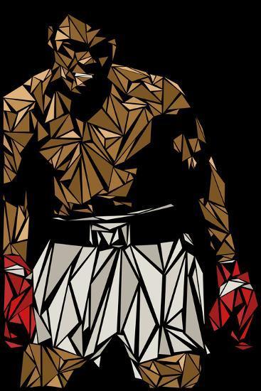 Muhammad Ali-Cristian Mielu-Premium Giclee Print