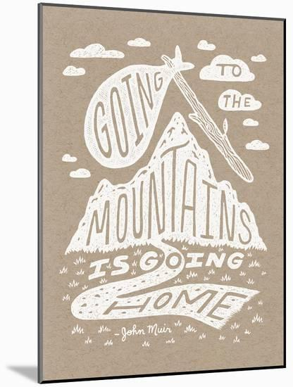 Muir Illustrated Quote Poster-Satchel & Sage-Mounted Serigraph