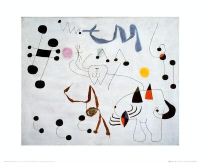 Mujer Sonando en su Evansion, c.1945-Joan Mir?-Art Print