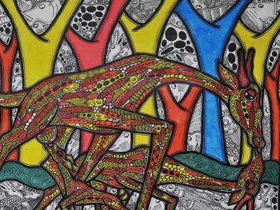 Mother Giraffe by Muktair Oladoja