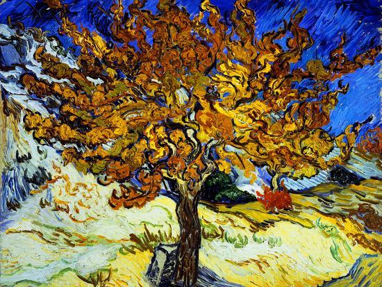 Mulberry Tree, c.1889-Vincent van Gogh-Premium Giclee Print