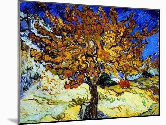 Mulberry Tree, c.1889-Vincent van Gogh-Mounted Art Print