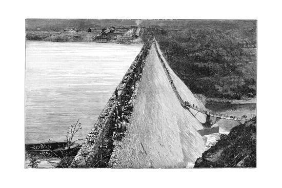 Mullaperiyar Dam, 19th Century-Science Photo Library-Giclee Print