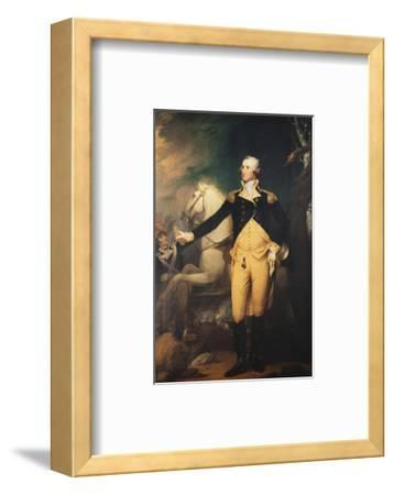 Portrait of General George Washington (1732-1799) at the Battle of Trenton
