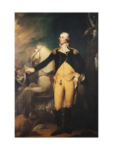 Portrait of General George Washington (1732-1799) at the Battle of Trenton by Muller Robert