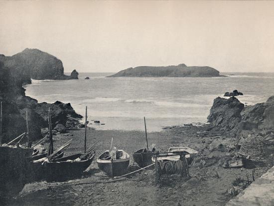 'Mullion Cove - Showing Mullion Island', 1895-Unknown-Photographic Print