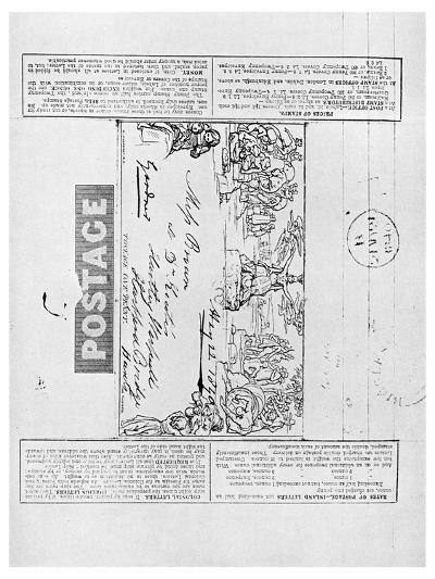 Mulready's Wrapper Envelope, 1840--Giclee Print