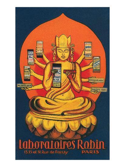 Multi-Armed Indian God--Art Print