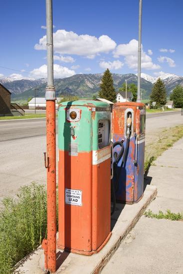 Multi-Colored Antique Gas Tanks, Idaho-Joseph Sohm-Photographic Print