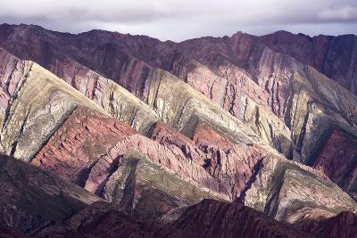 Multi Coloured Mountains, Humahuaca, Province of Jujuy, Argentina-Peter Groenendijk-Photographic Print
