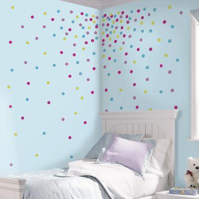 Multi Glitter Confetti Dots Peel And Stick Wall Decals--Wall Decal